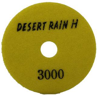 """Desert Rain Honeycomb Dry Pad 4"""", 3000 Grit, Yellow Velcro"""