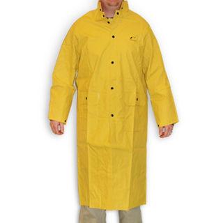 """2XL 48"""" Yellow Coat with Detachable Hood"""