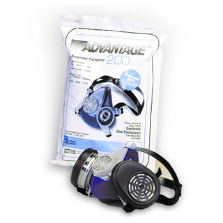 MSA Advantage 200 Medium Respirator w/Split Neck Strap