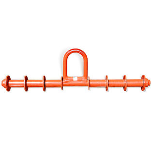 """Straight Bar with Pipe Roller and Washers 35"""", 1-4 Ton Capacity"""