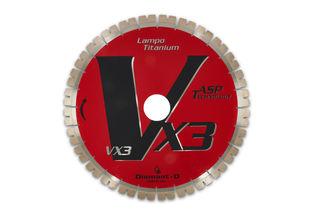 """Diamant-D Lampo 2000 Titanium Bridge Saw Blade, 16"""" 18mm Seg"""