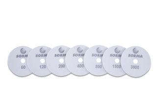 "Sorma 7 Step I-Dia Dry Polishing Pad, 4"" Set, 60-3000 Grit"