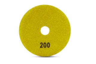 "Tiger Superflex Diamond Wet Polishing Pad 4"" 200 Grit"