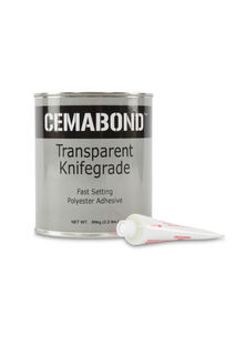 Cemabond Transparent Polyester Adhesive Knife Grade, Quart