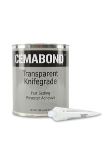 Cemabond Transparent Polyester Adhesive Knife Grade, Gallon