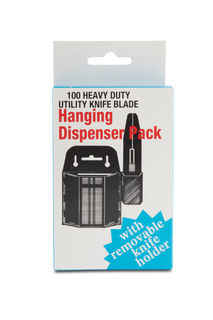 Replacement Blades for Utility Knife w/ Dispenser,Qty 100