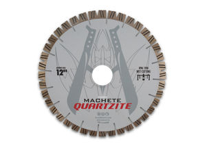 "Diarex Machete Quartzite Bridge Saw Blade 12"" 25mm Segments 50/60mm"