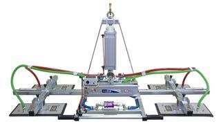 Manzelli Vacuum Lifter 500Kg 4 Plate Multi-Position Air Power Tilt