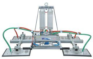 Manzelli Vacuum Lifter 1000Kg 4 Plate Multi-Position Air Power Tilt