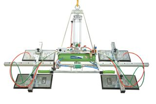 Manzelli Vacuum Lifter 500Kg Xential 4 Plate Air Power Tilt