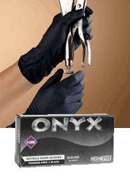 Onyx Nitrile Gloves, 100/Box
