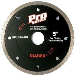 """Diarex Pro Series Continuous Rim Blade 4"""" 5/8""""-20mm-7/8"""""""