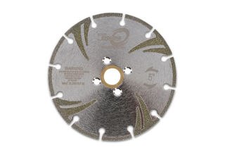 """Super Cyclone Electroplated Blade 5"""" 5/8""""-20mm-7/8"""" 4 Holes"""