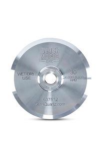 "Black Magic Diamond Resin Cup Wheel 4"" Aluminum 30 Grit"