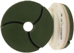 "Tenax Bullnose Edge Polishing Wheel 5"" 220 Grit Snail Lock"
