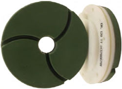 "Tenax Bullnose Edge Polishing Wheel 6"" 120 Grit Snail Lock"