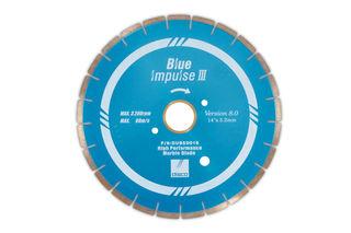 "Disco Blue Impulse III Marble Bridge Saw Blade 14"" 10mm Segments 50/60mm"