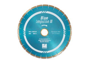 "Disco Blue Impulse III Marble Bridge Saw Blade 16"" 10mm Segments 50/60mm"