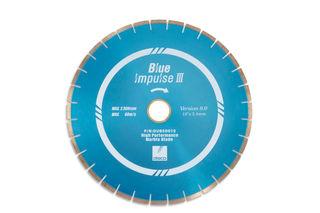 "Disco Blue Impulse III Marble Bridge Saw Blade 18"" 10mm Segments 50/60mm"