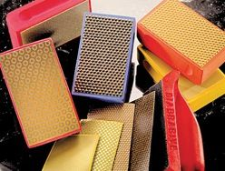 "Abrasive Technology Genesis Diamond Handpads 2-1/2"" x 4"", 1800 Grit"