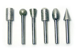 "Electroplated Diamond Burr Set KS24-09037C, 1/4"" Shank 80 Grit"
