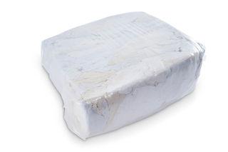 White Knit Cotton Shirt Rags 25lb Poly Bag