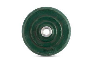 "Green Rubber Backup Pad Flexible QRS 5"" 5/8""-11"