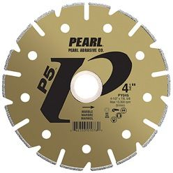 """Pearl P5 Electroplated Marble Blade 4"""" x 20mm Hole PY004"""