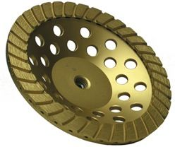 """Gold Series Double Row Turbo Cup Wheel 7"""" Coarse"""