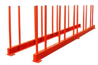 """Abaco Remnant Rack 118"""" RES27, 2200 lb Capacity 2 Rails and 20 Poles"""