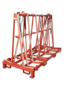 Diarex A-Frame Transport Rack, 8' Length, No Wood Shelf