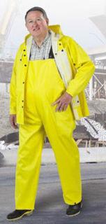 "Heavy Duty Webtex Rain Jacket With Hood Snaps XL 48"" Long, No Hood"