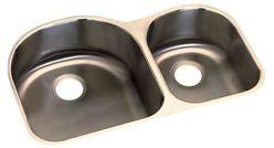 Revere Stainless Steel Sink 18 Gauge 60/40 D Shape 8x8