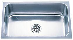 """Stainless Steel Undermount Sink, 18 Gauge 30"""" x 18"""" x 9"""""""