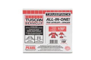 """Tuscan Seamclip Truspace Box of 150 Red 3/8"""" to 1/2"""" Tiles"""