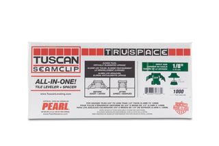 "Tuscan Seamclip Truspace Green Box of 1000 1/8"""