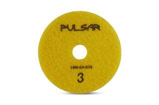 """Pulsar 3 Step Wet Pad for Quartz & Granite, 4"""" Pos. 3"""