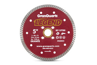 """Legend Premium Turbo Blade 5"""" 7/8""""-20mm-5/8"""" Arbor 4 Hole"""