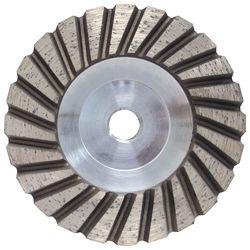 "Pro Series Aluminum Cup Wheel 4"", Fine, 5/8""-11"
