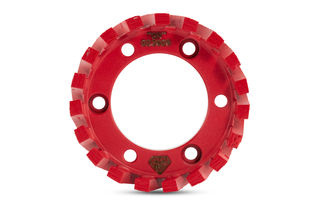 Stubbing Wheel, 50mm Arbor, 91x30x7, Medium to Soft Bond, Red