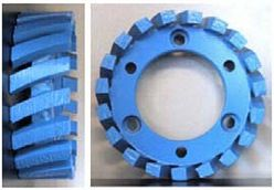 Stubbing Wheel, 50mm Arbor, 91x30x7, Medium to Hard Bond, Blue