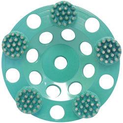 "Pearl PB06G P4 Button Cup Wheel 6"", 5/8""-11"