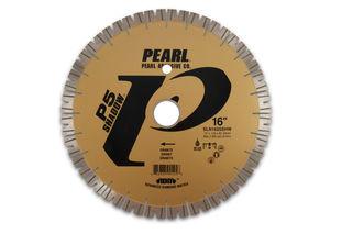 "Pearl P5 Shadow Bridge Saw Blade 16"" 25mm Segments Drilled with Donatoni Pattern"