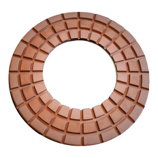 "9"" Lavina Waffel Heavy Duty Copper Polishing Pads"