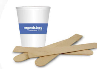 Wooden Mixing Sticks & Mixing Cups