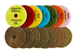 """Imperial Wet Polishing Pads 4"""""""