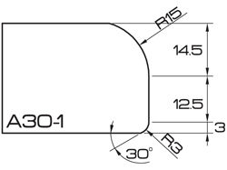 ADI UHS Profile A30-1 3cm 80 Series CNC Profile Wheels R=15mm