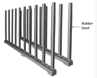 Abaco Rhino Slab Rack with Rubber with 20 Support Bars with Rubber