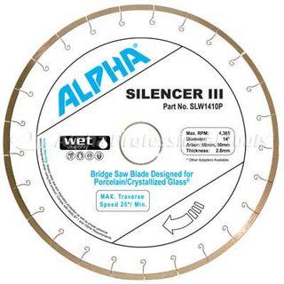 """ALPHA SILENCER III 12"""" PORCE & CRYSTAL GLASS 1"""" ARBOR"""
