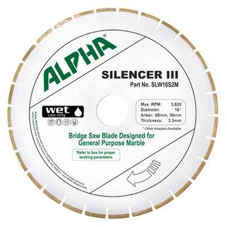 "ALPHA 16"" SILENCER III BLADE FOR MARBLE"